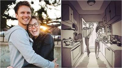 他們的愛沒有盡頭 丈夫手繪365天相愛日常 一起感冒也是幸福