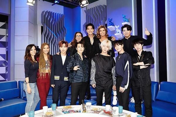 ▲Super Junior登上知名脫口秀《Montse & Joe》。(圖/翻攝自推特)