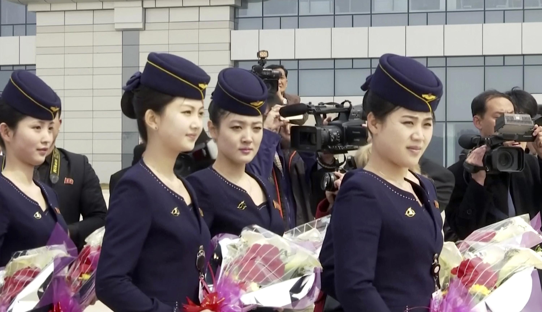 ▲▼北韓高麗航空、北韓國旗             。(圖/達志影像/美聯社)