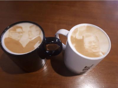 「寅寅恩恩和平咖啡」拉花紅遍南韓 老闆害羞:我也叫金正日啦
