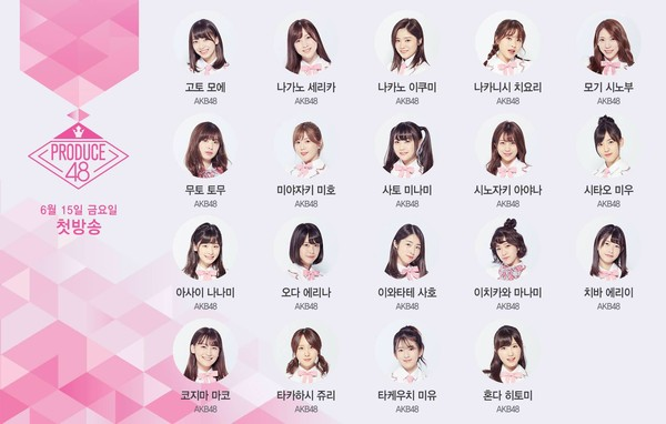 ▲▼ 《Produce 48》首波19名日本練習生名單。(圖/翻攝自Mnet官網)