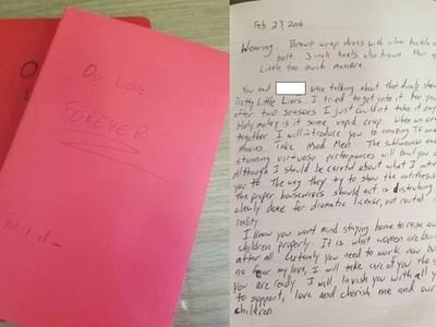 不熟男同事盯哨家外 寄來3年份暗戀日記 女悚然翻開:啥時尿尿都記下