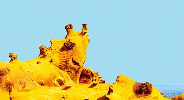 ▲和平島阿拉寶灣奇岩怪石。(圖/和平島公園提供)