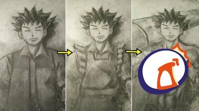 地毯畫出「魔劍士小剛」三段進化!日本人妻都是怪物嗎