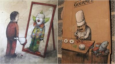 法國畫家畫出病態的社會 我們都只是現實生活的小丑