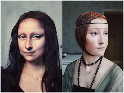 從畫裡走出來!粉絲一個玩笑話,正妹仿妝師變身《蒙娜麗莎》