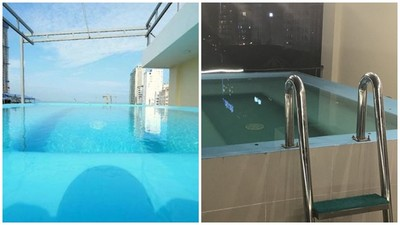 訂飯店附設無邊際泳池 入住後發現「有框架」:這我家浴缸吧?