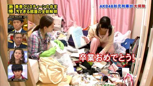房間髒亂程度。
