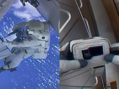 飛出地球發現記憶卡沒帶!太空人呆握GoPro 求救總部對話曝光