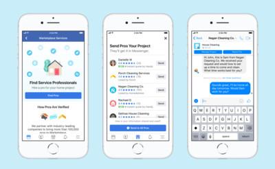 臉書Marketplace推出居家服務