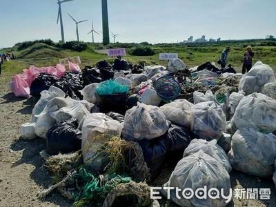 大堀溪出海口淨灘清出200袋垃圾