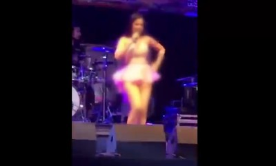 女歌手沒穿內褲熱舞!「妹妹」全露