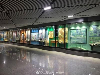 別再當低頭族 名畫空降上海地鐵