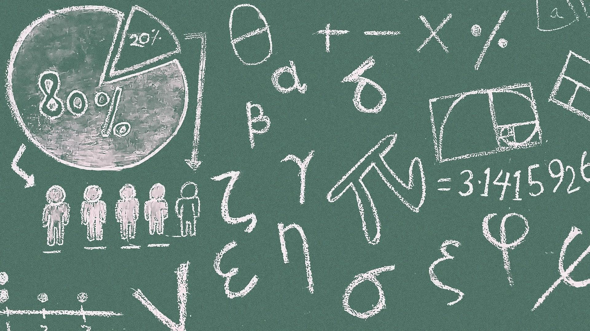 ▲▼數學,黑板。(圖/取自免費圖庫Pixabay)