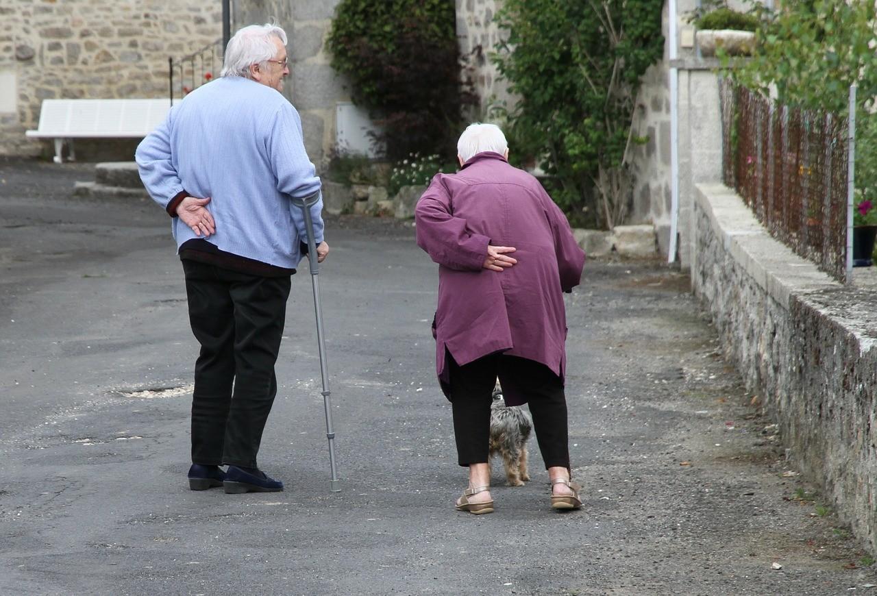▲老年,老人,年長,走路,長照,老花眼,皺紋。(圖/翻攝自pixabay)