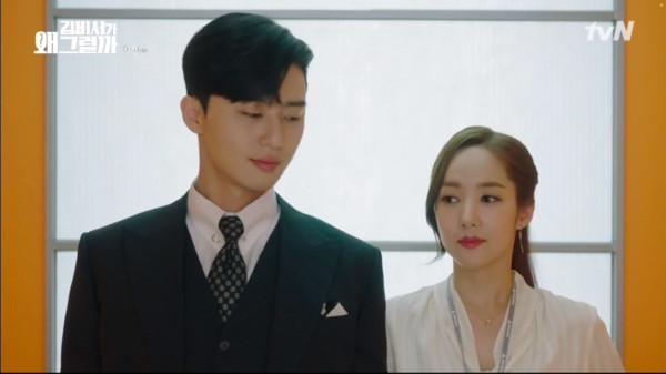 ▲▼ 朴敘俊、朴敏英《金秘書為何那樣》第一集。(圖/翻攝自tvN)