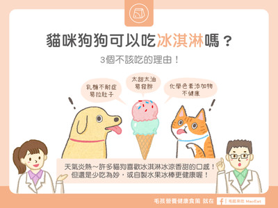 熱翻天...貓狗可吃冰淇淋嗎? 「3大後果」千萬別亂餵!