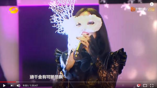 ▲▼神秘女神降臨,鄧倫瞬間變臉。(圖/翻攝自YouTube/湖南衛視芒果TV官方頻道)