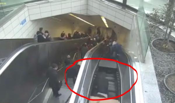 ▲▼停運的電扶梯會「吃人」,不能走。(圖/翻攝自網路)