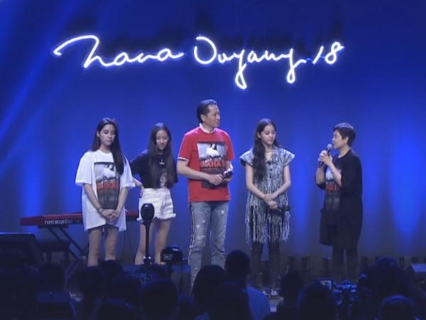 ▲▼歐陽娜娜18歲成人禮音樂會。(圖/翻攝自QQ音樂X炫舞夢工廠直播)