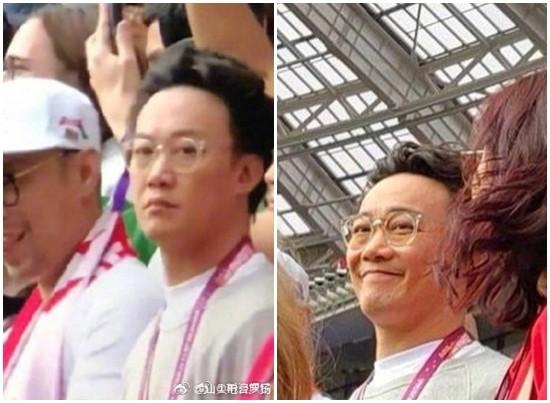▲陳奕迅現身世足賽。(圖/翻攝自微博)