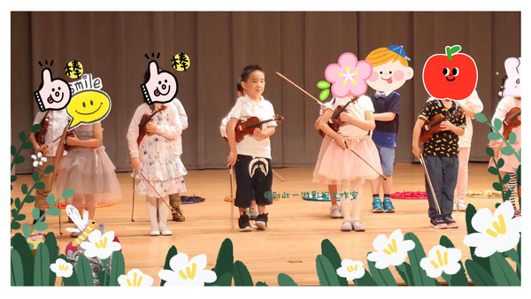 ▲Jasper幼稚園畢業典禮表演。(圖/翻攝自到此一游影視工作室微博)