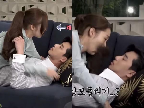▲朴敘俊拉朴敏英撲懷裡真實畫面曝光!OO搞瘋兩人都笑場。(圖/翻攝自YouTube tvN DRAMA)