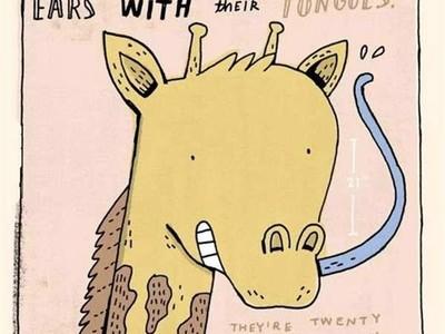 長頸鹿用「53公分舌頭」直接舔耳屎!插圖噁萌冷知識,這不科學啊