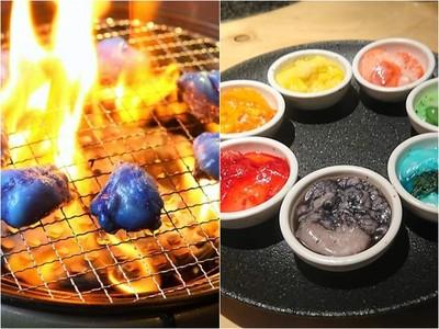 這食物不像在地球...燒肉店衝擊「藍色內臟」 挺日本男足藍藍路