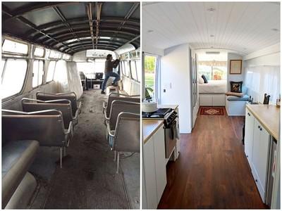 破巴士變「移動公寓」!小資女花200萬改造:這是我夢想中的家
