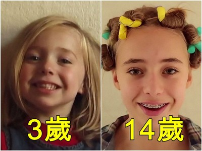 5分鐘看完0到18歲!老爸拍攝「女兒縮時成長」…從屁孩變空靈美人