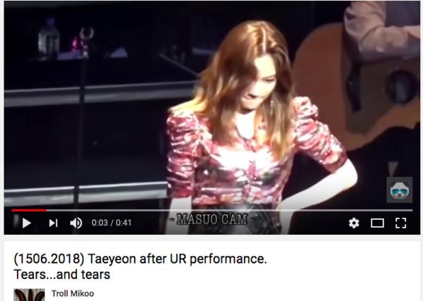 ▲太妍連續2次高音失常,台上氣到哭出來。(圖/翻攝自MASUO CAM推特)