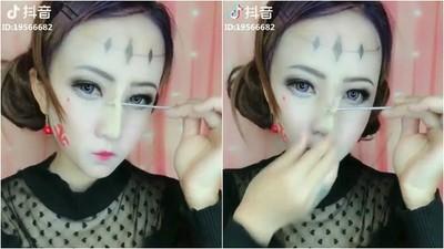 亞洲妖術又發威!女神「鐵棒戳鼻」刮下鼻樑 看完不敢再相信眼睛