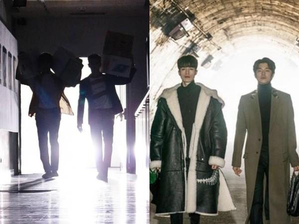 ▲子閎、張立昂《三明治女孩的逆襲》模仿鬼怪。(圖/翻攝子閎臉書、tvN)