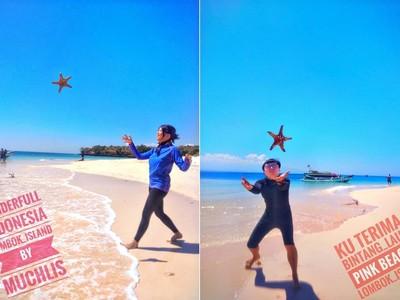 很痛拜託不要丟!海星拋空中拍美照 絕美海灘變海星地獄
