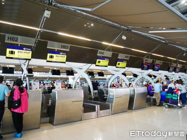▲機場,曼谷機場,蘇萬那普國際機場,BKK,泰國機場,Checkin櫃台,泰航,行李托運,行李輸送帶。(示意圖/記者彭懷玉攝)