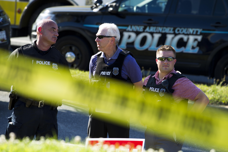 ▲▼ 美國馬里蘭州安納波利斯市「首都報」的辦公室發生槍擊案。(圖/達志影像/美聯社)