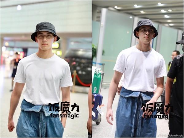 ▲吳磊畢業前模樣俊俏,最近現身變壯不少。(圖/取自《芒果影音》、《飯模力》、「扒圈小豬」微博)