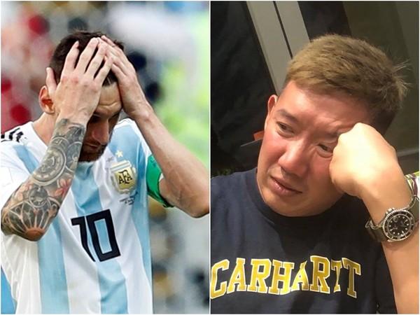 ▲杜汶澤看阿根廷輸球,笑稱發不出員工薪水,笑翻眾人。(圖/路透、取自杜汶澤臉書)