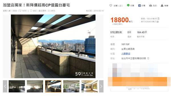 ▲▼林志玲豪宅一周內賣出。(圖/翻攝自《591房屋交易網》)