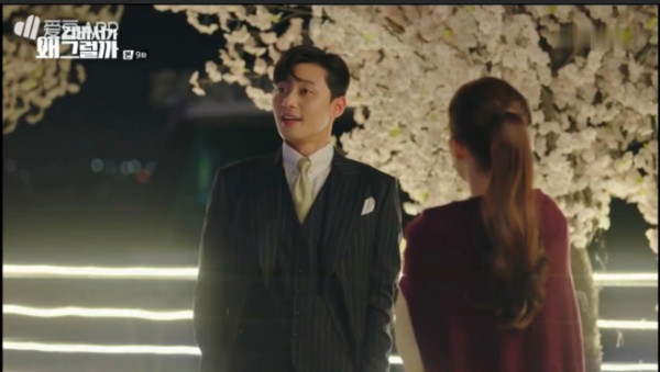 ▲▼《金祕書為何那樣》朴敘俊、朴敏英衣櫃激吻。(圖/翻攝自tvN)