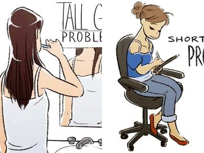 「高個女VS.矮個女」7大生活差異!我坐椅子腳還可以懸空亂晃