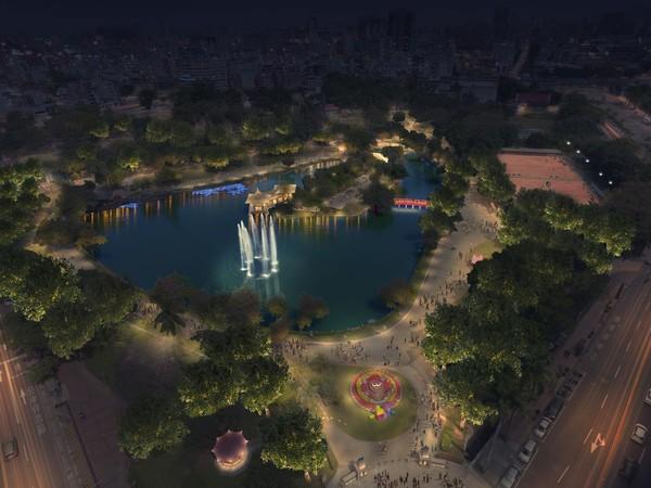 ▲台中公園打造夜間光景。(圖/台中市政府建設局)