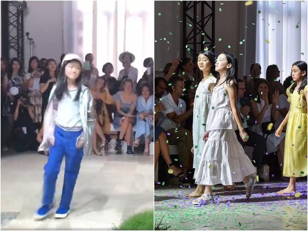 ▲李嫣已經長成12歲少女,並在近日受邀登上巴黎兒童時裝周走秀。(圖/翻攝自《秒拍》、CFP)