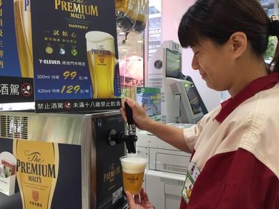 小7引進超商首台全自動生啤酒機 搶攻239億元暢飲商機