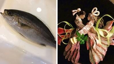 一尾魚「萬剮交疊」成牛郎織女!沙西米擺盤藝術,有錢才吃得起