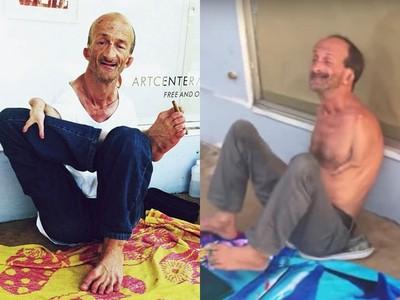 「無臂街頭藝人」遭醉漢痛毆!腳夾剪刀正當防衛,反被逮捕罰22萬