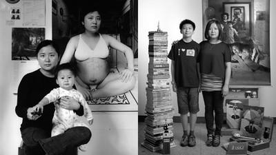 一組親子照「凝住17年親情」 背景母親還捧孕肚,身旁兒已經等肩高