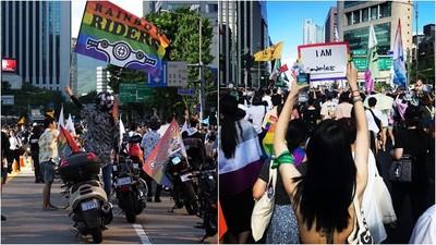 18年前只有50人上街 南韓同志大遊行揚起彩虹旗 反同人士:被神恢復