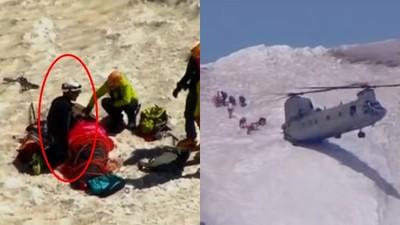 爬上海拔三千公尺想自殺,壯漢懼高不跳了!叫空軍派直升機救他